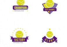 Free vector Tennis badges #31068