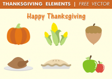 Free vector Thanksgiving Elements Free Vector #30943