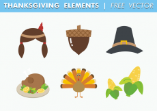 Free vector Thanksgiving Elements Free Vector #30949