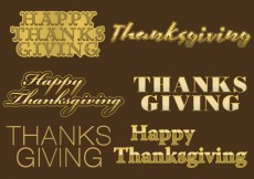 Free vector Thanksgiving Golden Titles #30951