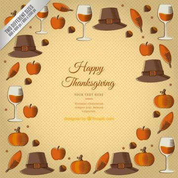 Free vector Thanksgiving Template Background #28833