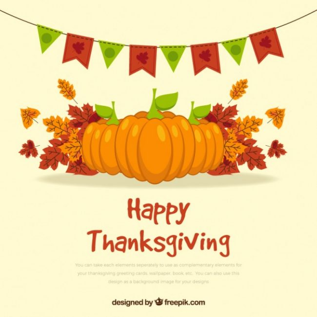 Free vector thanksgiving with pumpkin #29892
