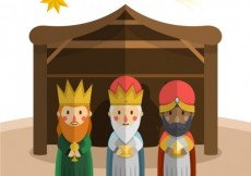 Free vector The three kings of orient in flat design #29552