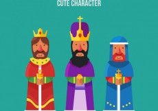 Free vector Three Wise Men Flat Collection #31100