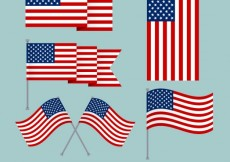 Free vector usa flags collection #34501