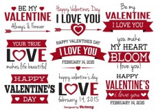 Free vector Valentine's Day Vector Labels #33530