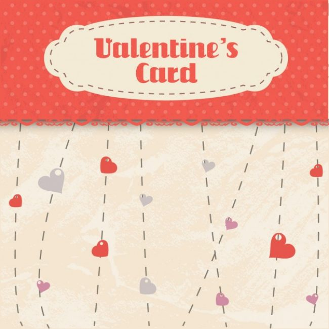Free vector Valentines card in scrapbook style #32586