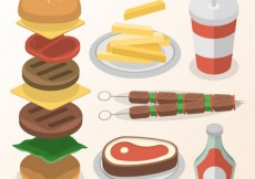 Free vector Variety of fast food #30561