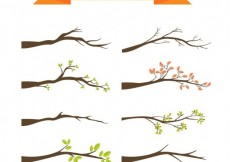 Free vector Variety of tree branches #30018