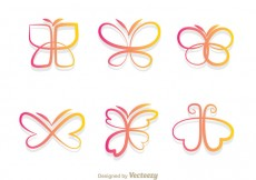 Free vector Butterfly Gradient Icons #31107
