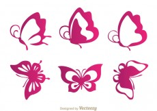 Free vector Butterfly Purple Icons #31129