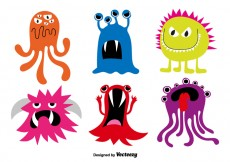 Free vector Cartoon monsters #28976