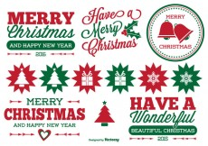 Free vector Christmas Label Set #29062