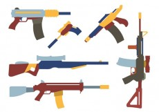 Free vector Collection of Colorful Gun Shapes #33656