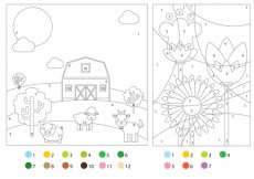 Free vector Coloring Pages With Color Guides #29128