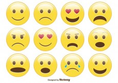 Free vector Cute Smiley / Emoticon Set #33536
