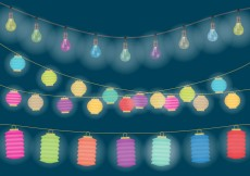 Free vector Decorative Hanging Lights #31840