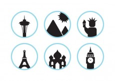 Free vector Famous monuments #29949