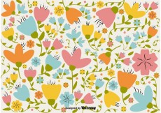 Free vector Floral Retro Background #34532