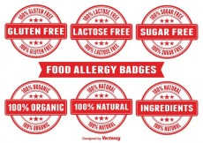 Free vector Food Allergy Badges #32527