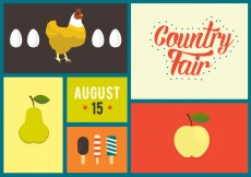 Free vector Vector Illustration of Country Fair Symbols #28534