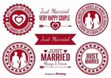 Free vector Just Married Badges #31935