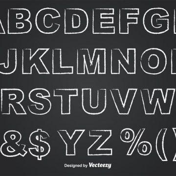 Free vector Outlined Chalkboard Style Alphabet #34320