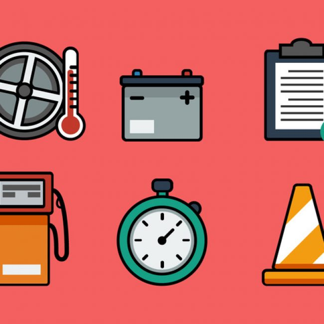 Free vector Vector Pit Stop Icon Set #29382