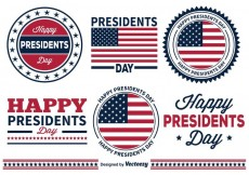 Free vector Presidents Day Badges #28259