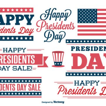 Free vector Presidents Day Label Set #29098