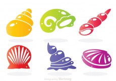 Free vector Sea Shell Colors Icons #28546
