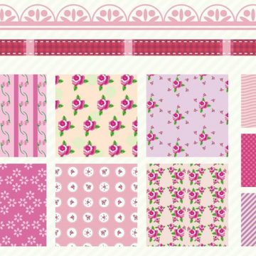Free vector Shabby Chic Rose Patterns #32173