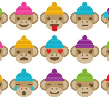 Free vector Sock Monkey Emoticons #29424