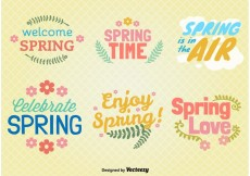 Free vector Spring Typographic Ornaments #32681