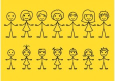 Free vector Stick Figure Icons #32157