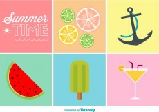 Free vector Summer Time Flat Colour Icons #33969