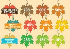 Free vector Thanksgiving Sale Labels #30959