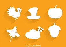 Free vector Thanksgiving Silhouette Icons #31431