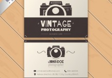 Free vector vintage photography business card #30577
