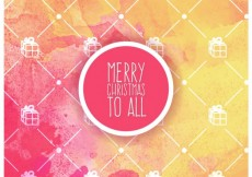 Free vector Watercolor background with christmas label #33483