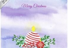 Free vector Watercolor christmas candle background #30915