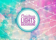 Free vector Watercolor christmas lights background #32160