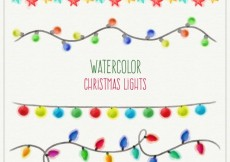 Free vector Watercolor christmas lights #33394