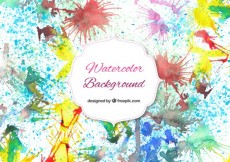 Free vector Watercolor splashes background #28242