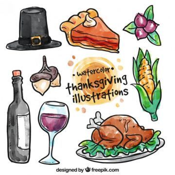 Free vector Watercolor thanksgiving illustration #33475