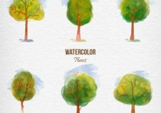 Free vector Watercolor trees #29732