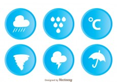 Free vector Weather Circle Icons #29306