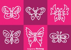 Free vector White Butterfly Vector #31101