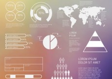 Free vector White infographic elements on blurred background #32978