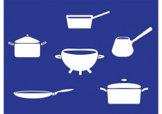 Free vector White Pans with Handle Vectors #33425